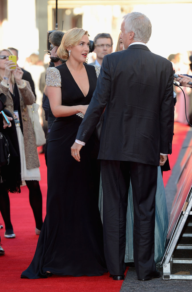 Kate Winslet caught up with director James Cameron at the world premiere of Titanic 3D in London.