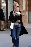 January Jones strolled through NYC with Xander.