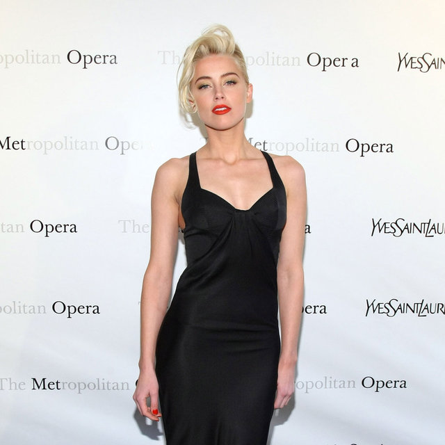 January Jones in YSL Pictures at Metropolitan Opera