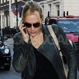 Kate Winslet chatted on her cell phone in London.