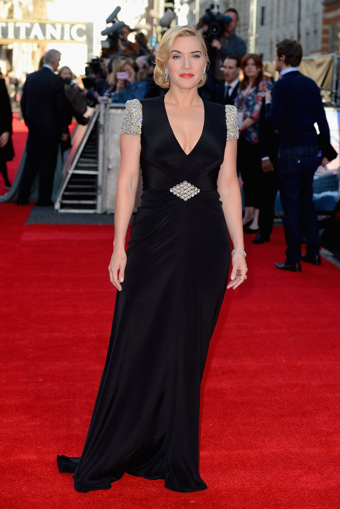 Kate Winslet arrived at the Titanic 3D world premiere in London.