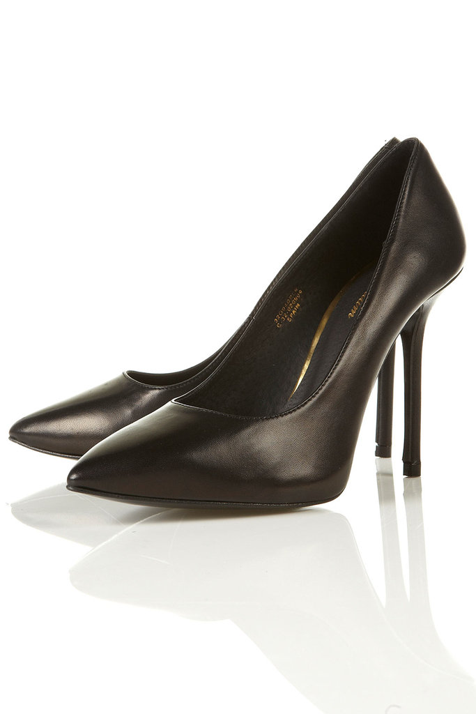 Because everyone needs a classic black pair that'll go with everything.  Topshop Pablo Pointed Court Shoes ($130)