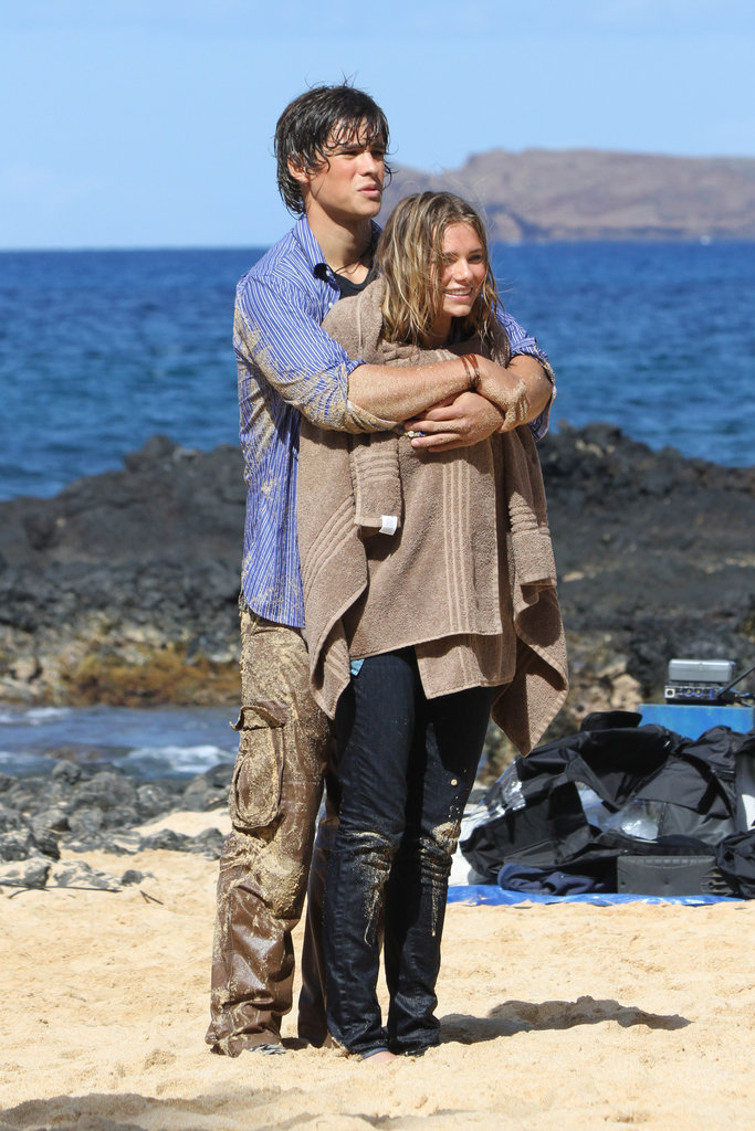 Indiana Evans and Brenton Thwaites Get Started Filming the Blue Lagoon Remake in Maui