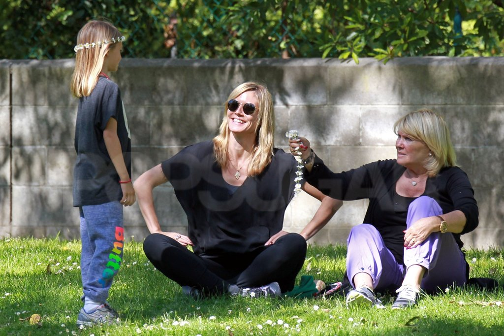 Heidi Klum Unleashes Her Flower Power at the Park With the Kids
