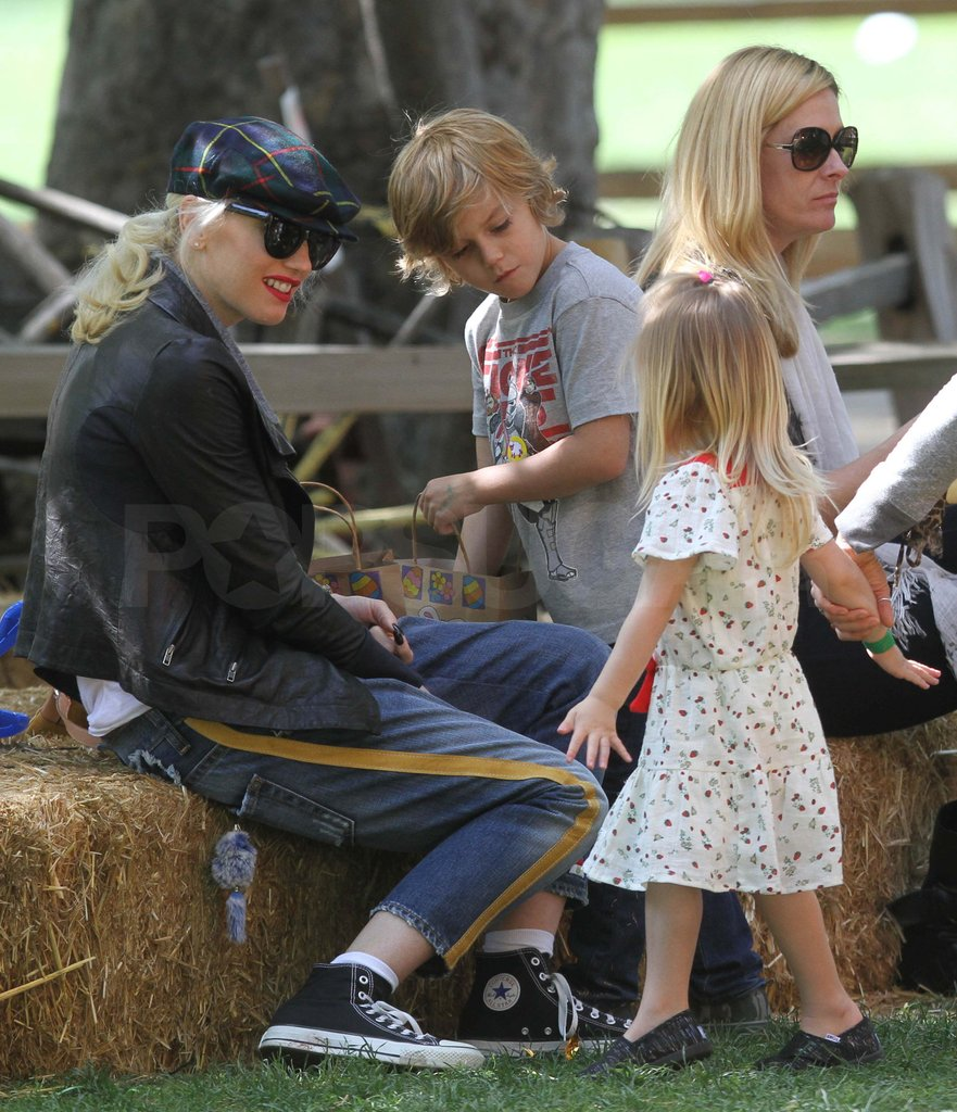 Gwen Stefani was at a park with Kingston.