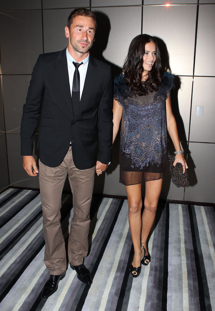 Adriana Lima posed with her husband Marko Jaric.