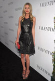 Nicky Hilton on the black carpet at a celebration for Valentino's 50th anniversary in LA.