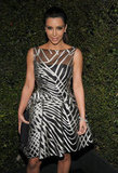 Kim Kardashian attended the festivities for Valentino's 50th anniversary in LA.