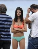 Selena Gomez waited for cameras to start rolling.