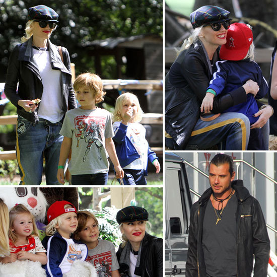 Gwen Stefani Gets a Head Start on Easter Fun With Kingston and Zuma