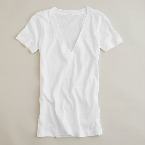 Summer climates mean a lot of sweating. That said, you should stick to lighter colors and fabrics. This white tee is the perfect, comfy fit. J.Crew Tissue V-Neck Tee ($15)