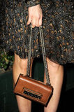 A closer look at Abigail's chain-strap bag.
