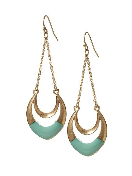 Embellish your outfit with a double dose of turquoise and gold. Sabine Crescent Drop Earrings ($18)