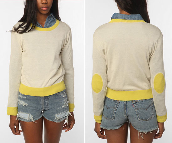 You had us at the adorable yellow elbow patches! Coincidence & Chance Elbow Patch Sweater ($44)