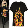 Rihanna Wears a 155 Maison Martin Margiela Fire T-Shirt