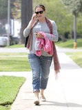 Jennifer Garner wore dark sunglasses in LA.