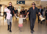 Nicole Kidman and Keith Urban had fun while traveling with daughters Faith and Sunday in an airport in Australia.