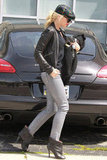Gwen Stefani headed into a music studio in Santa Monica.