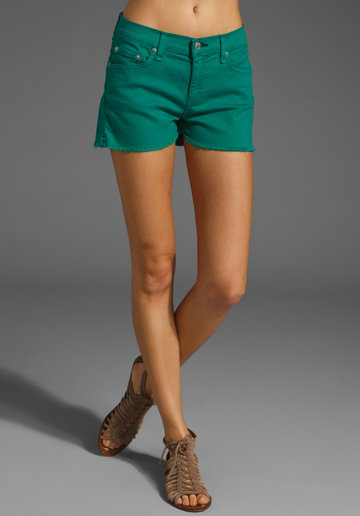 Bright Bottoms 'Tis the time to wear shorts — so why not wear them boldly? Taking a page out of this season's obsession with bright colors, these gently frayed kelly-green cutoffs will inject cool vibrancy without going overboard. Rag & Bone Jean Cut Off Shorts in Kelly Green ($101, originally $143)