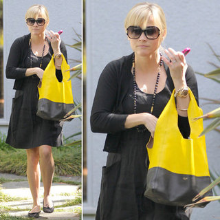 Reese Witherspoon Black and Yellow Bag