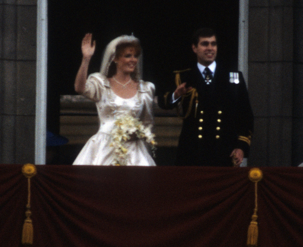 Prince Andrew, Duke of York, and Sarah Ferguson, Duchess of York, celebrated their wedding at Buckingham Palace in July 1986.