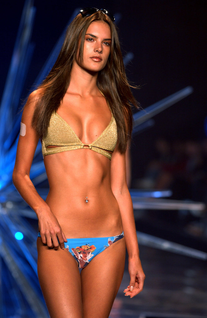 Alessandra Ambrosio modeled Rosa Cha during New York Fashion Week in September 2003.