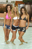 Miranda Kerr, Candice Swanepoel, and Alessandra Ambrosio celebrated the 15th anniversary of the Victoria's Secret swim catalog in LA in March 2010.