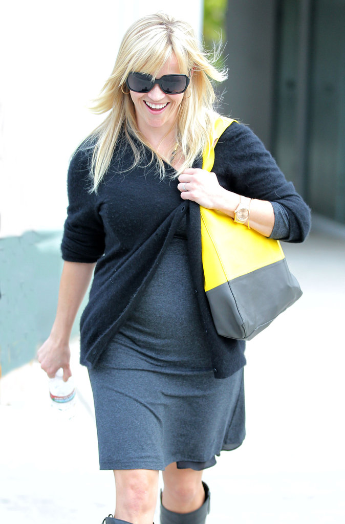 Reese Witherspoon Gets to Work While Showing a Tiny Bump