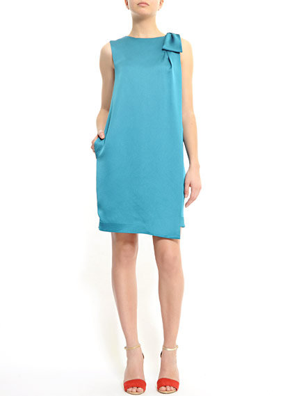A pretty blue shift dress that'll work well for day or night.  Mango Loose-Fit Sleek Dress ($59)
