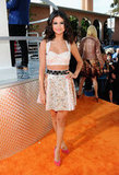 Selena Gomez Shows Some Skin For Kids' Choice Awards Orange Carpet