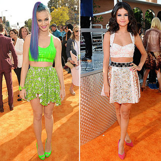 Kids' Choice Awards Selena Gomez, Katy Perry Wear Crop Tops