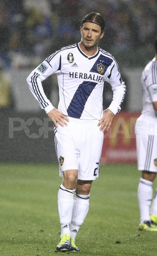 David Beckham played in a Galaxy game.