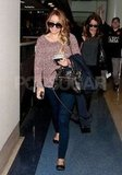 Lauren Conrad arrived at the Los Angeles airport.