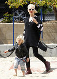 Gwen Stefani chased after Zuma at an LA playground.