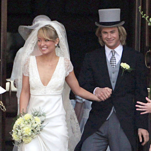 Chris Hemsworth Olivia Wilde Wedding Rush Pictures