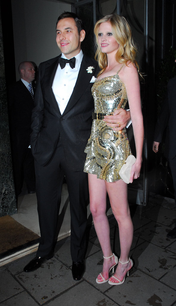 Comic David Walliams tied the knot with supermodel Lara Stone in London in May 2010.