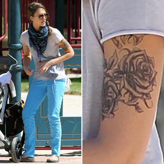 Jessica Alba Shows Off Bold New Tattoo at the Park