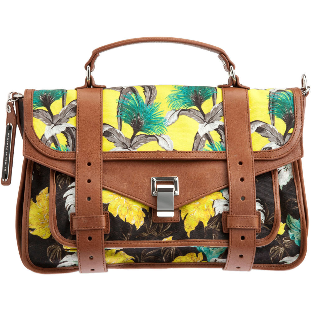 """""""While I usually stay away from seasonal It bags, I can't stop thinking about Proenza's tropic thunder. I love the contrast between the retro floral prints and classic satchel style; it makes me feel like I'm only an iced tea away from the Polo Lounge."""" — Liza Kaplan, senior producer, FabSugarTV  Proenza Schouler PS1 Medium Floral Satchel ($1,855)"""