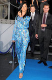 Rihanna wore blue and gold Pucci to the Battleship world premiere.