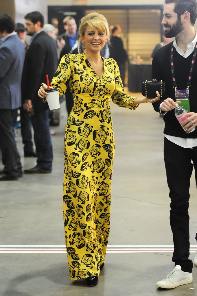 Nicole Richie in a yellow gown.