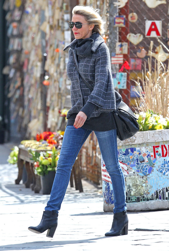 Cameron Diaz in the West Village in NYC.