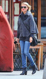 Cameron Diaz left lunch at Morandi in the West Village in NYC.