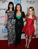Krysten Ritter, Kat Coiro, and Fallon Goodson posed together at the premiere of Life Happens in Century City.