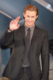Alexander Skarsgard waved to fans.