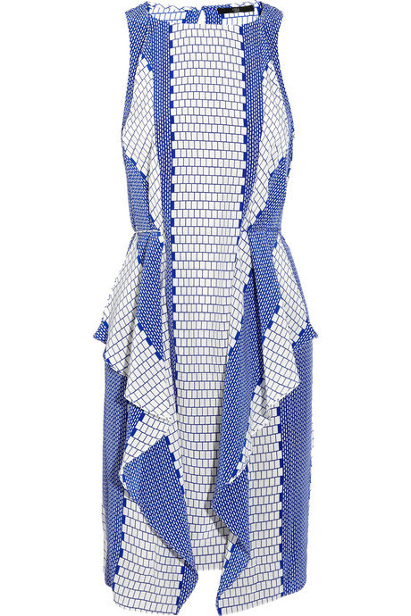 This gorgeous find feels fresh and unique — to set you apart from all the other guests.  Tibi Printed Silk Dress ($385)