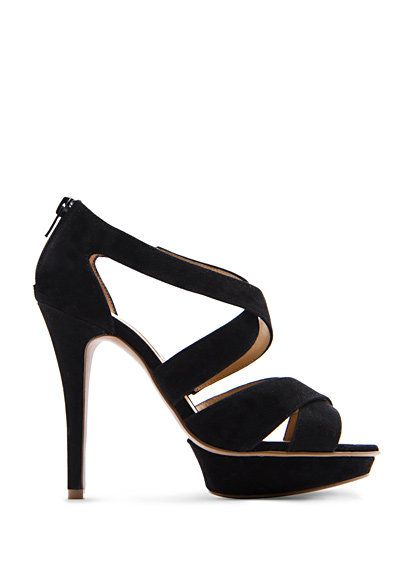 A sexy black heel is a wedding-season staple.  Mango Strap Sandals ($90)