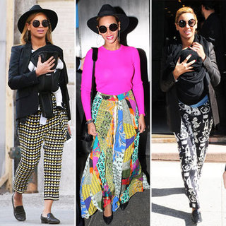 Beyonce in Colorful Printed Pants Spring 2012