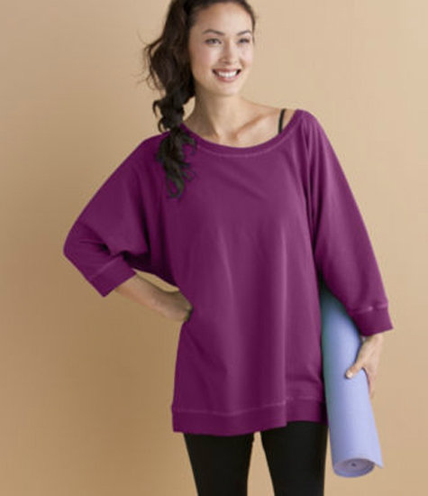 Just toss on a cozy Organic Cotton Studio Sweatshirt ($58) from the eco-friendly Gaiam label, and you'll be good to go!