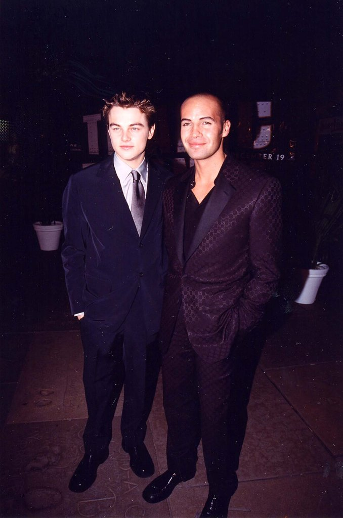 Leonardo DiCaprio and costar Billy Zane hung at the movie's Hollywood premiere.