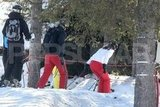 Kate Middleton and Prince William made their way through the trees while skiing in France.